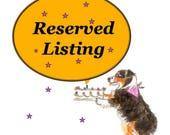 Custom Reserve Listing for Diane