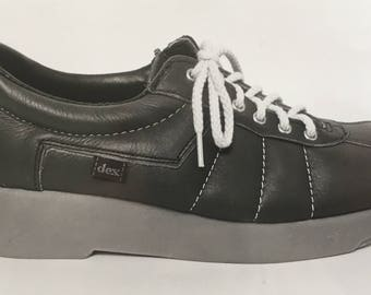 Dex:  Awesome 1980's Black and White Photo of Dexter Shoe