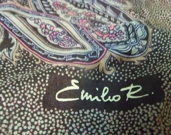 vintage Emilio square  scarf paisley print