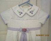 Vintage Style B.T. KIDS EASTER Dress Girls Size 5 White and lavendar