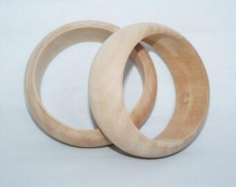 Unfinished Wood Bangle, Chunky Bracelet,  Wedding Favors, Womens Bracelet,  Wooden Ring, Bracelet Bangle, WoodJewelry Bracelet, DIY Bracelet