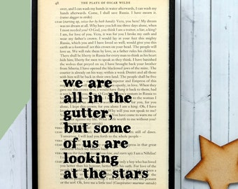 Oscar Wilde - Inspirational Quote - Framed Quotes - We Are All In The Gutter... -  Book Art - Oscar Wilde Quote - Motivational Quotes -