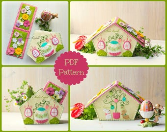PDF Pattern. Easter house.