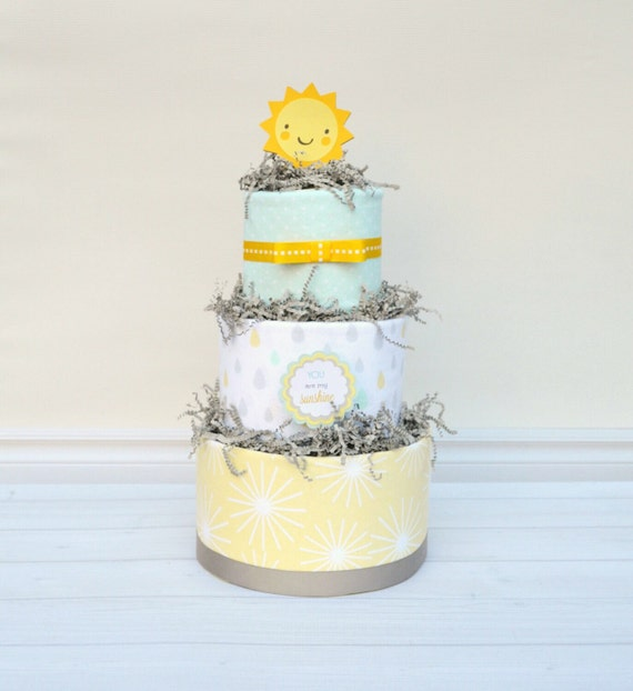 You are my Sunshine Baby Shower, You are my Sunshine Shower Decor, Sunshine Diaper Cake, Baby Sprinkle Gift, Baby Shower Gift, Neutral