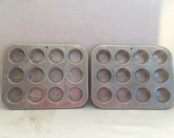 Vintage Wear-Ever Mini Muffin Pan Set of 2