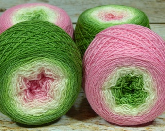 "Full "" Frog Princess "" -Lleap Handpainted Gradient Sock Yarn"