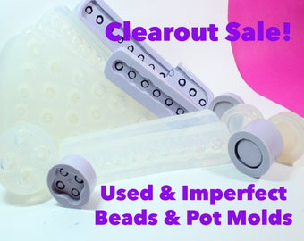 CLEARANCE Used or Imperfect Beads and Container Pot Molds; Bulk Bag