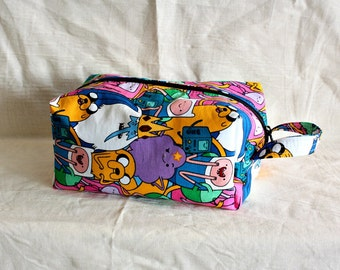 Adventure time dopp kit/ medium toiletry bag/  pouch/ travel kit/ - ready