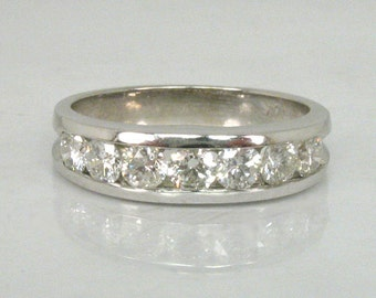 Estate Diamond Wedding Ring - 0.75 Carats Total Weight Channel Set Diamonds - Appraisal Inluded