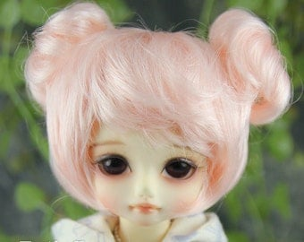 "Fatiao - New Dolls Wig Dollfie Yo-SD 1/6 BJD 6-7"" size - Light Pink"