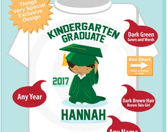Kindergarten Graduate Shirt | Kindergarten Graduation Shirt | Personalized for your little girl with year and name | 05162017b