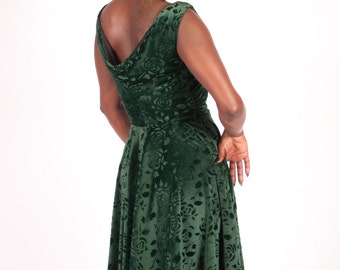 1950s Inspired Formal Wear Liz Taylor Inspired Velvet Dress