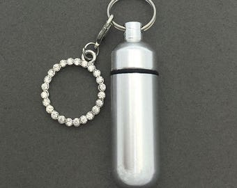 Forever Circle - Ashes Urn - Cremation Necklace - Ashes Holder - Vial Key Chain