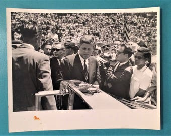 John Fitzgerald Kennedy JFK Photo - 1963 Nashvile Visit Vanderbilt - Unpublished Original
