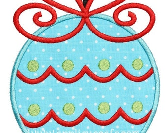898 Christmas Ornament 8 Machine Embroidery Applique Design