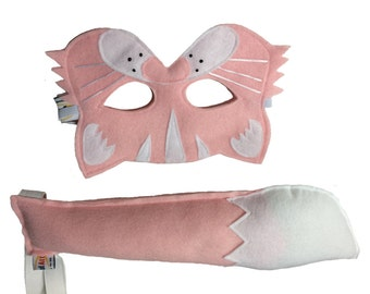 Felt CAT Animal Mask and Tail Set for Kids