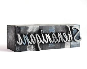 SHENANIGANS - 60pt Vintage Metal Letterpress