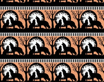 Wolf and Pup Howl fabric
