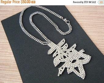 SALE Rhinestone Bling Necklace Happiness Symbol