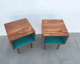 FREE SHIPPING!! A Pair of Joilet Side Tables... Mid Century Modern Side Table Midcentury Bed Side Table Modern End Table
