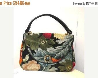 SALE Vintage Embroidered Carpet Autumn Handbag by JACLYN