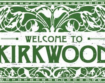 Welcome to Kirkwood deco style 9 x 12