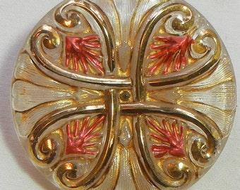 Classical Design Czech Glass Button