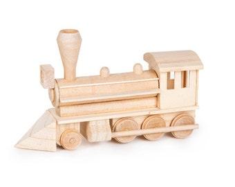 Civil War steam engine locomotive train wood model kit
