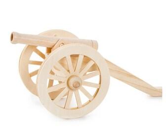 Civil War Cannon wood model kit