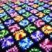 Vintage Granny Square Rainbow Afghan Throw Blanket