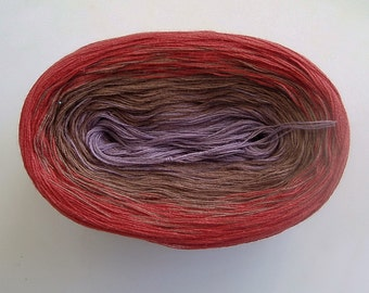 NOVEMBER - Color Changing Cotton yarn - 480 yards/100 gr - Fingering Weight