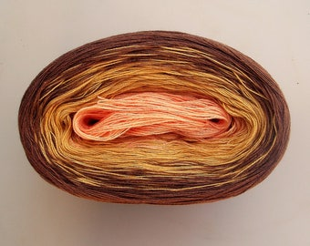 HAZELNUT  Color Changing Cotton yarn  480 yards/100 gr  Fingering Weight