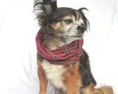 Pet Dog Infinity Scarf Tartan Plaid Flannel