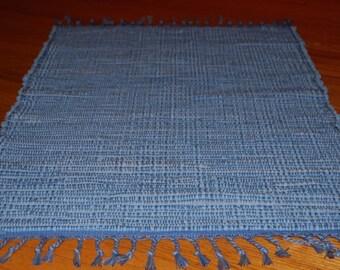 Handwoven Chambray Rag Rug