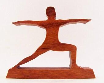 Warrior II Yoga Pose Figurine - Virabhadrasana II