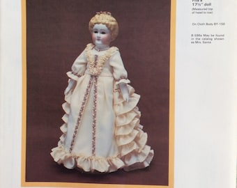 """Free Shipping/Byron Doll Pattern/Reproduction Doll BY-246 - """"China Doll""""/Vintage Doll Pattern/Fits a 17.5"""" Doll/Uncut"""