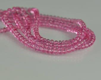 Pink Topaz Rondelles AAA Topaz Rondelles 3-4mm