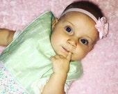 40% Off Minky Baby Bib- Mint Bib with Monogram for Jasmine