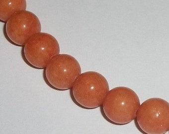 Jade, Mountain Gemstone Round beads 1 strand Opaque Peach Available in 4mm, 6mm, 8mm, 10mm and 12mm