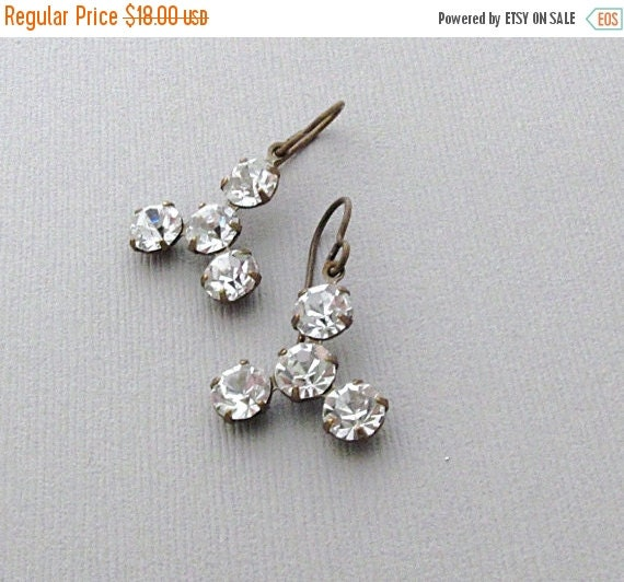 SALE, Sparkle Rhinestone Earrings, Dangle Earrings, Sparkle Jewelry, Holiday Party, Gift for Her, Wedding - Sparkle