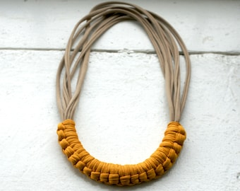 Mustard and Sand Macy necklace