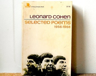 Vintage Leonard Cohen Book First Edition Paperback 1968 Selected Poems Rare.