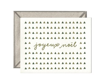 Joyeux Noel letterpress card