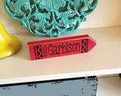 Teacher Crayon- Teacher Gift, Teacher Appreciation, End of the Year Gift, Classroom Gift, Personalized Teacher gift, Teacher Name Plate