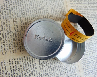 Vintage Kodak 16mm Film Cannister with Processing Band