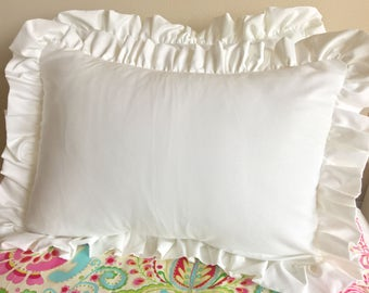Standard Sham, Beautiful Standard Shams, White Sham, Pure White Standard Sham, Sham for Girl Bedding, Twin Bedding, Queen Bedding
