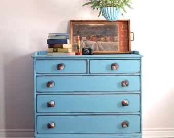 Bloue Dresser/Changing Table - SOLD