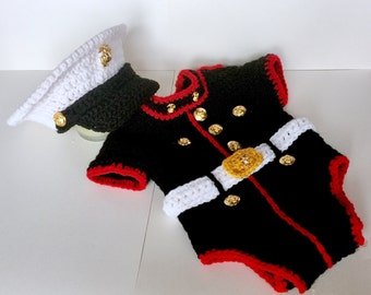 Marine Wedding Baby Suit - Marine Corps Baby Outfit - usmc Marine - Marine Corps Baby Clothes - Marine Baby Prop - Hobbyist License 21512