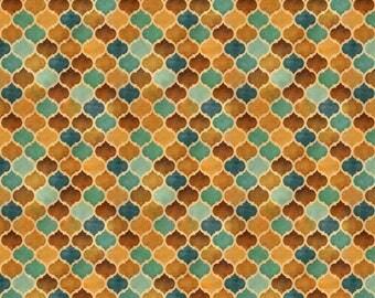 Quilting Treasures - Arabesque - Tonal Geometric - Tan - Fabric by the Yard 24647-A