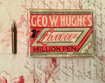 Box of vintage pen nibs, for calligraphy, altered art, jewellery
